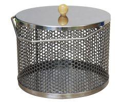 Popkorngryte for åpen ild - Rustfritt stål